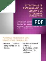 Estrategias Enseñanza Lengua y Literatura
