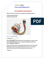 Motor Seection Parameters