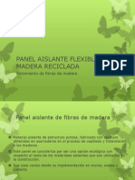 Panel Aislante Flexible de Madera Reciclada