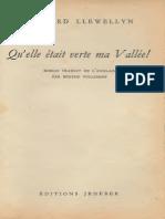 Qu'Elle Etait Verte Ma Vallee - Richard LLewellyn