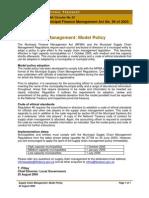 Legislative Acts - MFMA - Circular 22 - SCM - Model Policy Circular