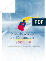 Plan Nacional de Desarollo 2007_2010