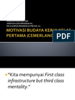 Budaya Kerja Kelas Pertama