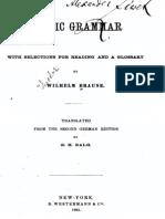 Gothic Grammar - Braune