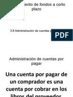 3.6 Administración de Cuentas Por Pagar