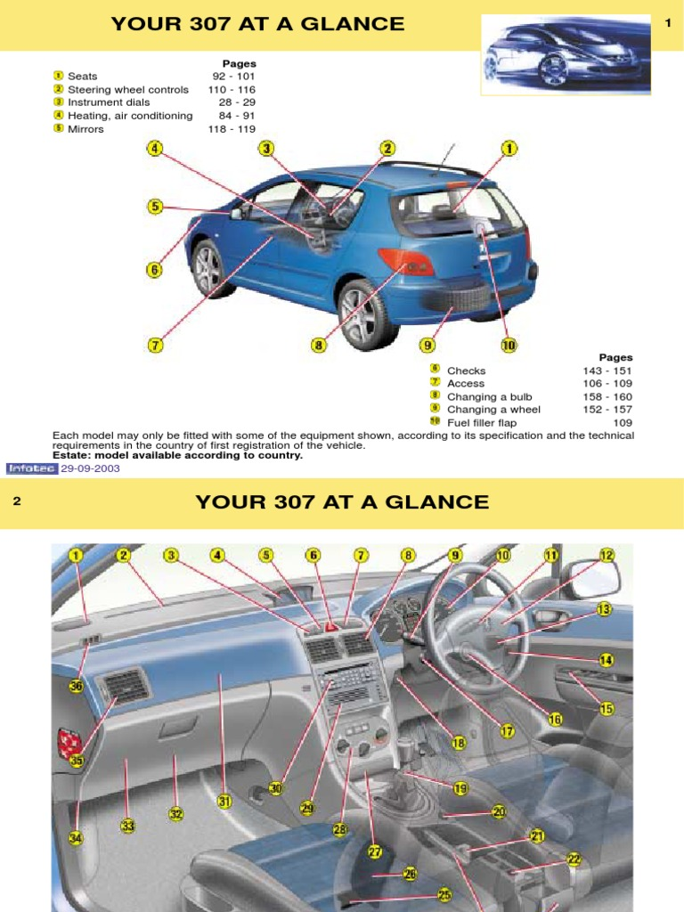 Peugeot 307 Owners Manual 2003 | Anti Lock Braking System
