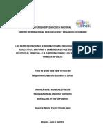 Representaciones Interacciones Pedagogicas Agentes Educativos