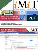 BYOD-presentation ICT Summit 05-06-2014, Version 7