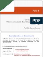 Aula 6 - Pré-dimensionamento Geométrico de Estruturas