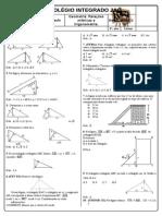 Relações Métricas e Trigonometria Lista de Revisão Com Gabarito
