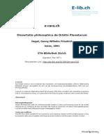 Dissertatio Philosophica de Orbitis Planetarum