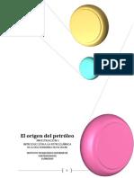 Investigacion El Origen Del Petroleo