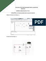 Practica 1 Introduccion Al Software Necesario Para El Analisis de Circuitos