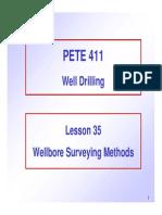35 Wellbore Surveying Methods