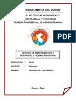 Mobografia Gestión de Mantenimiento y Seguridad e Higiene Industrial
