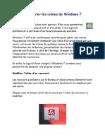 Bien Gerer Les Icones de Windows 7