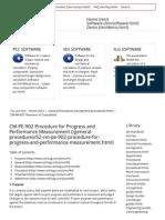 CM-PE-902 Procedure for Progress and Performance Measurement