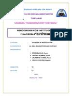 Negociacion Con Instituciones Financieras Edyficar