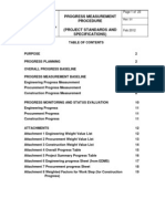 PROJECT STANDARD and SPECIFICATIONS Progress Measurement Procedure Rev01 Web
