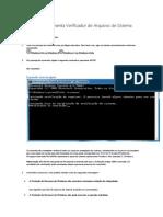 Executar a Ferramenta Verificador de Arquivos de Sistema