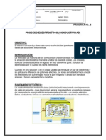 Proceso Electrolítico (Conductividad)