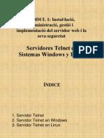 Servidores Telnet en Windows y Linux