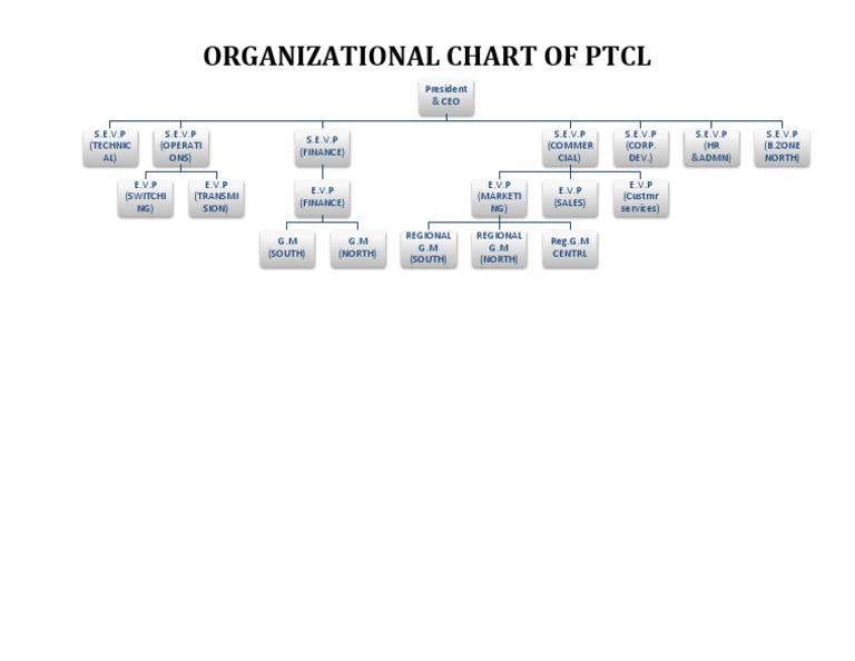 Organizational Chart Ptcl