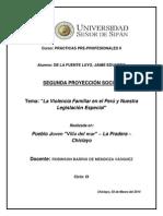 La Violencia Familiar en El Perú y Nuestra Legislación Especial