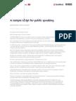 A Sample Script for Public Speaking