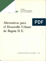 Alternativas Para El Desarrollo Urbano de Bogota D.C