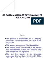De Costa v Bank of Ceylon