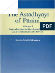 Volume 1 Introduction to the Astadhyayi as a Grammatical Device