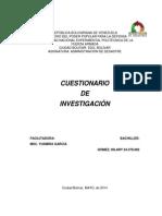 Cuestionario de Investigacion
