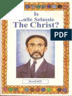 Is Haile Selassie the Christ