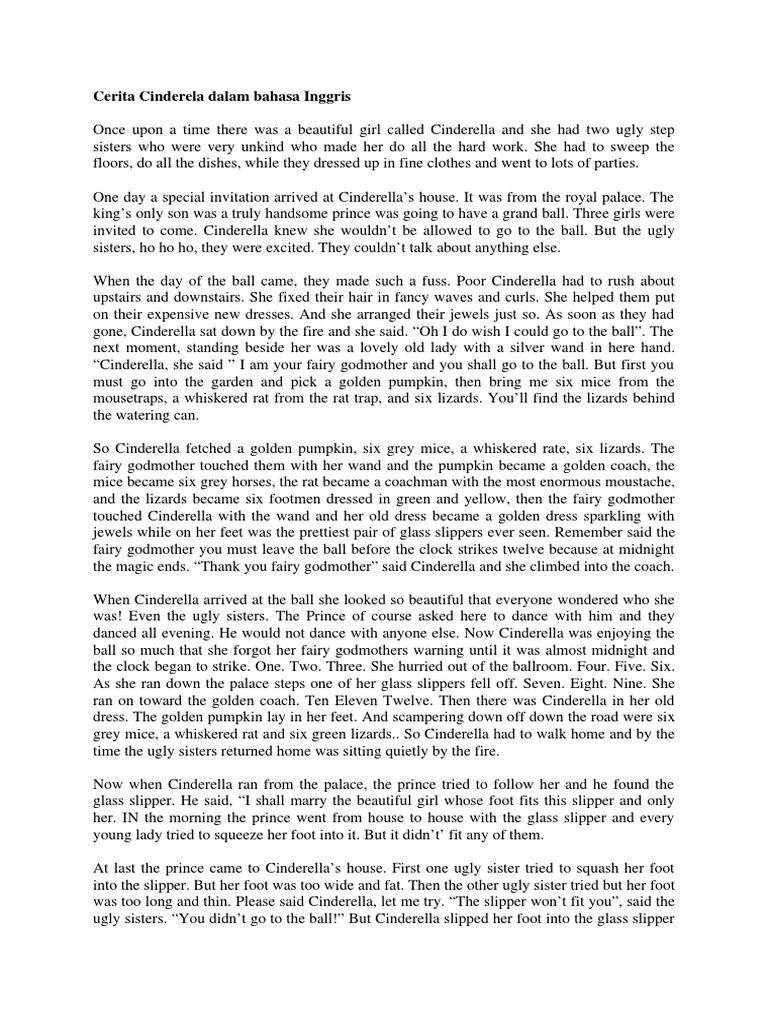 Cerita Cinderela Dalam Bahasa Inggris Cinderella Fairy Tale Stock Characters