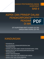 Bab 9 Aspek Dan Prinsip Dalam Pengkorporatan Dan Penswastaan Di Malaysia (1)