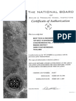 ASME R Certificate (National Board)