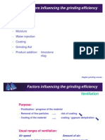 Factors Influencing the Grinding Efficiency