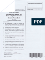 2012 Maths Practice Paper M2
