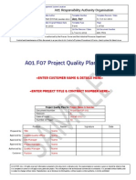 A01.F07 Project Quality Plan REV E