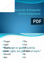 Two Criteria for a Powerful Vision Statement