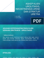 Askep Klien Urolitiasis, Inkontinensia Urine Dan Striktur