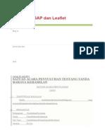 Kumpulan Sap Dan Leaflet Satuan Acara Penyuluhan Tentang Tanda Bahaya Kehamilan