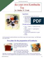How to Make Your Own Kombucha-Tea