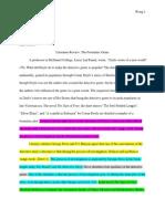 critical reading response essay 2nd draft