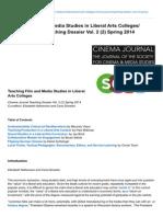 Teaching Film and Media Studies in Liberal Arts Colleges Teaching Dossier Vol 2 2 Spri