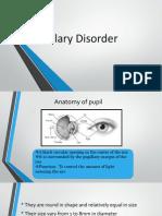Pupillary Disorder