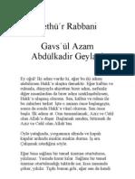 Fethü'r Rabbani - Abdülkadir Geylani