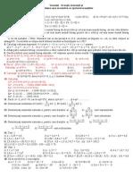 0 Fisa de Lucru Ecuatii Inecuatii Probleme Care Se Rezolva Cu Ajutorul Ecuatiilor Operatii Cu Numere Intregi