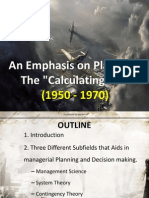 An Emphasis on Planning- The Calculating Era (1950 - 1970) Updated